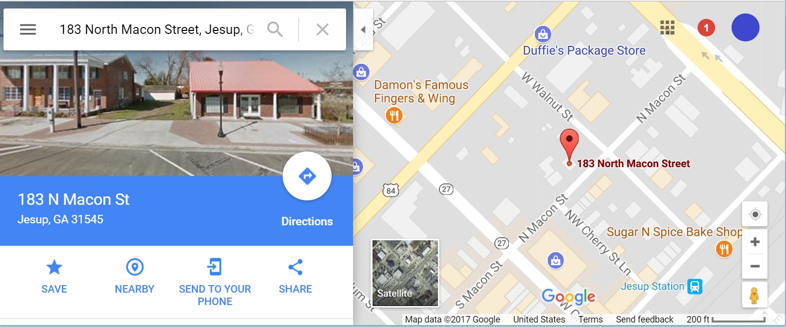 Rozier CPA location map